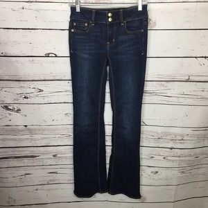 AEO denim cafe Artist flare Low Rise jeans